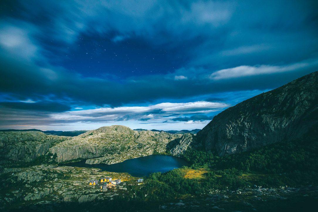 Útočiště v drsné norské krajině