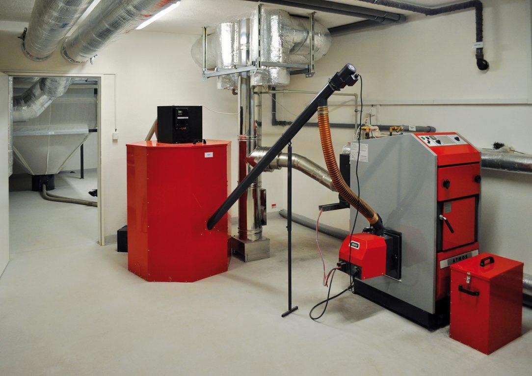 Obr. 10 Energetické centrum s kotlem na peletky