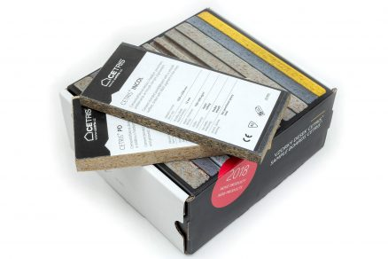 V krabičce najdete celkem 14 druhů cementotřískových desek