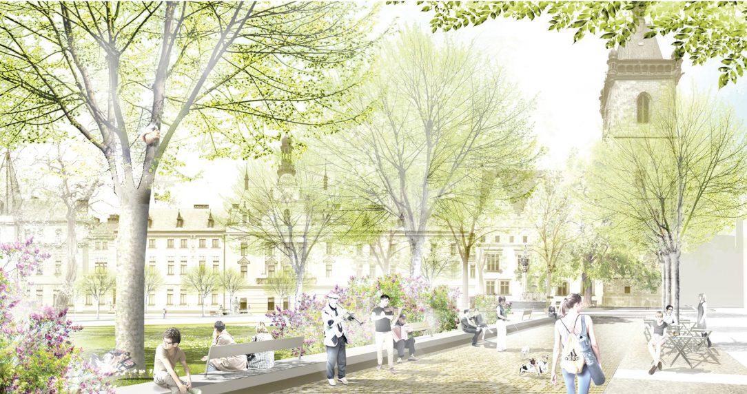 Karlovo náměstí má díky tomuto návrhu šanci znovu ožít a sloužit jako jeden z nejkrásnějších parků v centru města