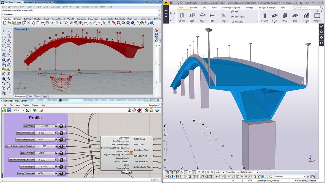 Přímé propojení s Rhinoceros a Grasshopper ukázka parametrického modelování