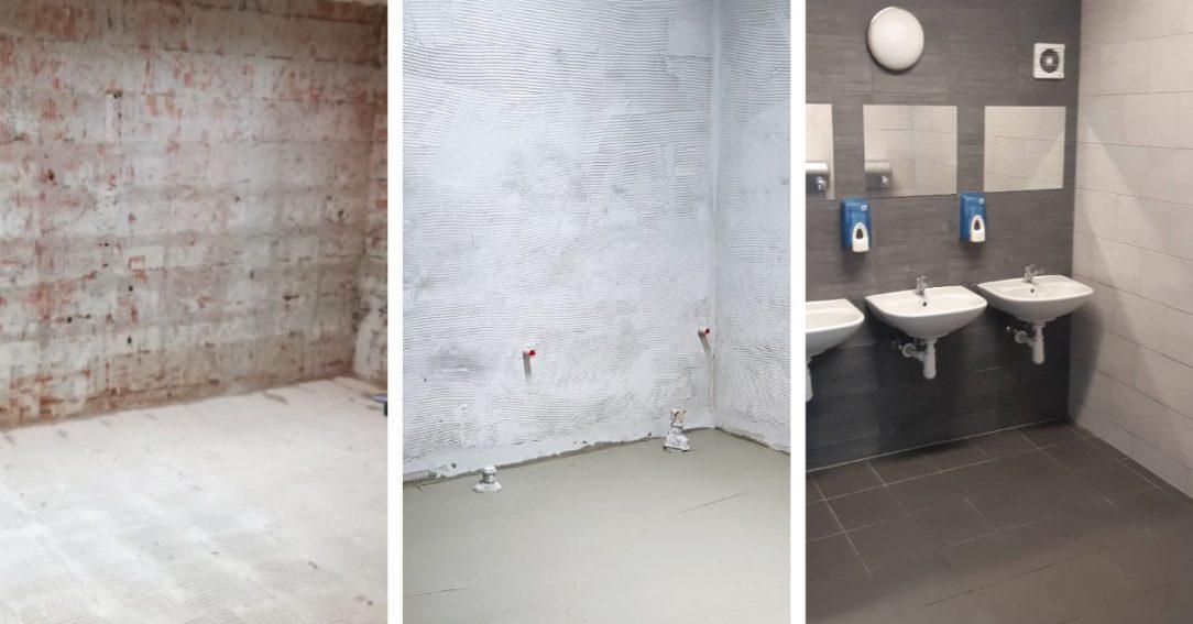Použití IZONIL omítky na renovaci koupelny