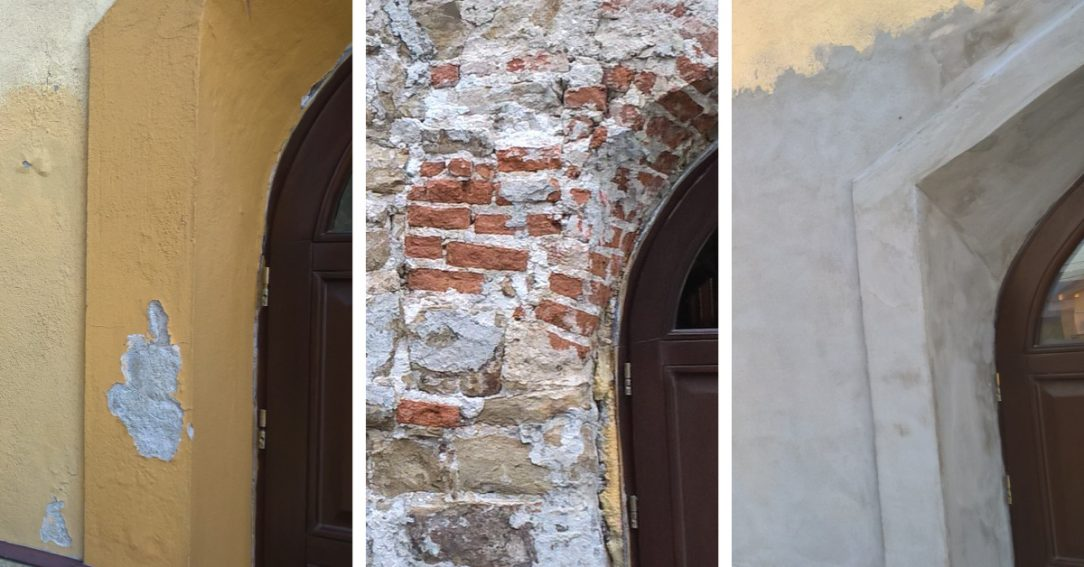 Použití IZONIL omítky na renovaci vnější zdi historické budovy kostela