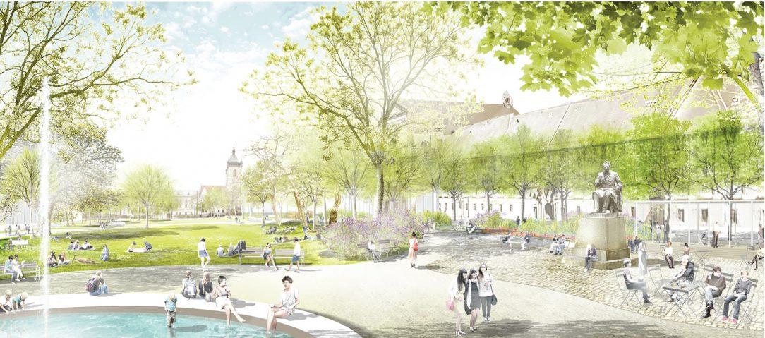Revitalizace má z parku vytvořit místo kde lidé chtějí trávit čas.