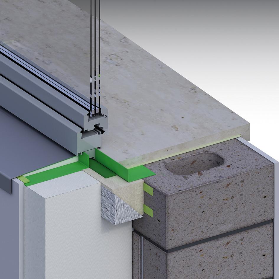 Stavebnicové systémové řešení předsazené montáže okna. Není nutné nic vymýšlet