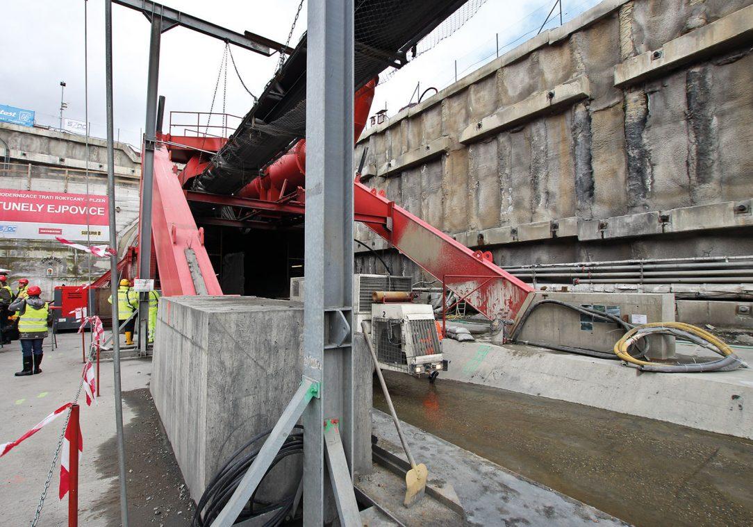 Výstavba tunelů na území ČR v Ejpovicích na Plzeňsku