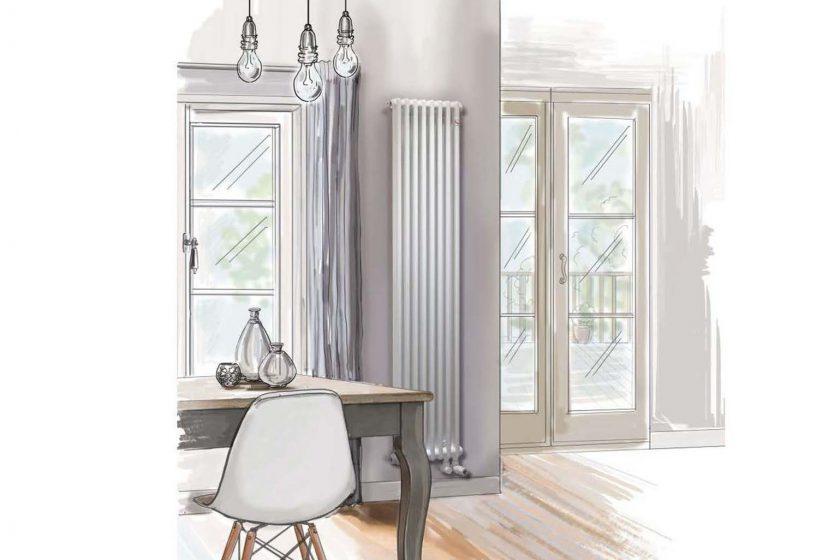Vizualizace s radiátorem Zehnder Charleston