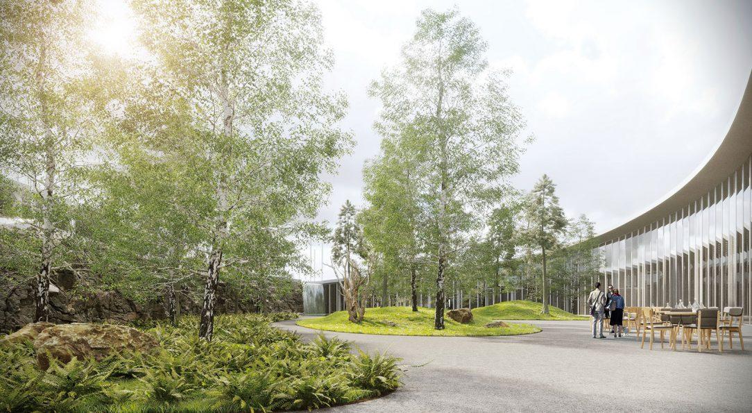 Vstupní areál botanické zahrady