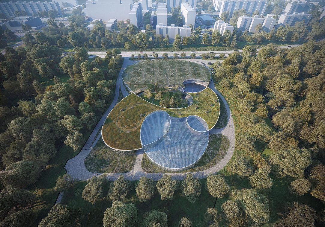 Vstupní areál botanické zahrady 2