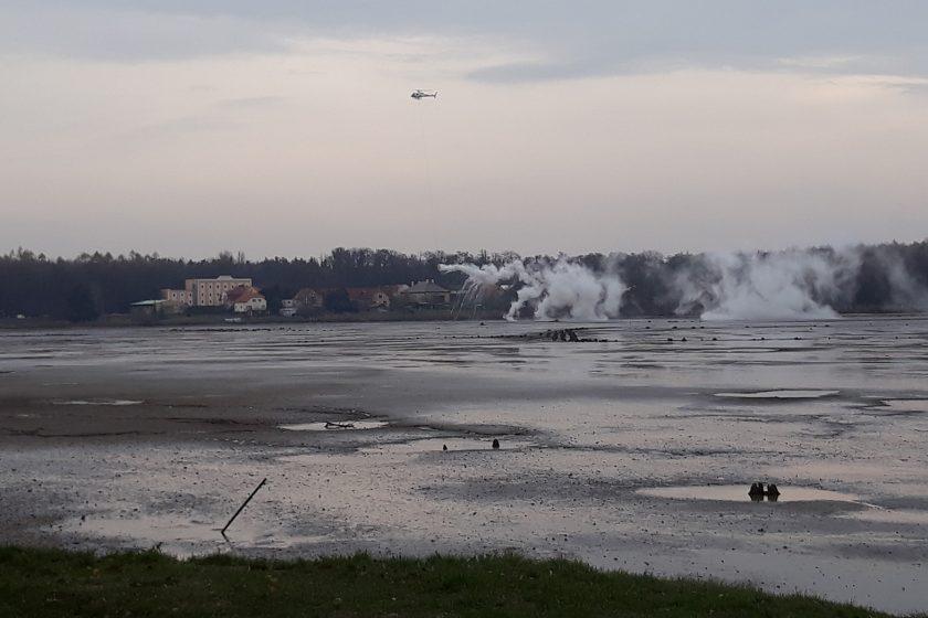 Desinfekce rybníka Buňkov