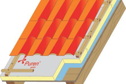 Puren PIR Pefect na bednění aparozábraně, tloušťka 140 mm, prostup tepla U= 0,16 W/m²K