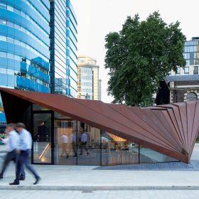 Cortenová struktura v Londýnském City