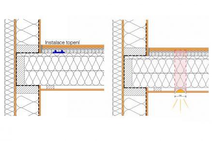 Stavební detaily a provedení zhoršení kročejové neprůzvučnosti až o 4 dB