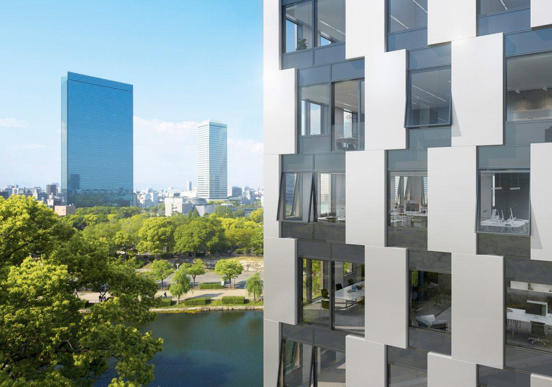 Neprůhledné části fasády mohou být z široké škály různých materiálů například kovových panelů potištěného skla nebo přírodního kamene.
