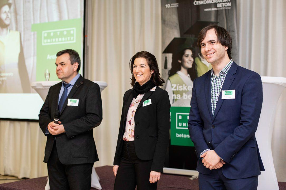 Prezentující: doc. Ing. Petr Cikrle, Ph.D.; Mgr. Iveta Heczková; Ing. arch. Rostislav Mareš (zleva)
