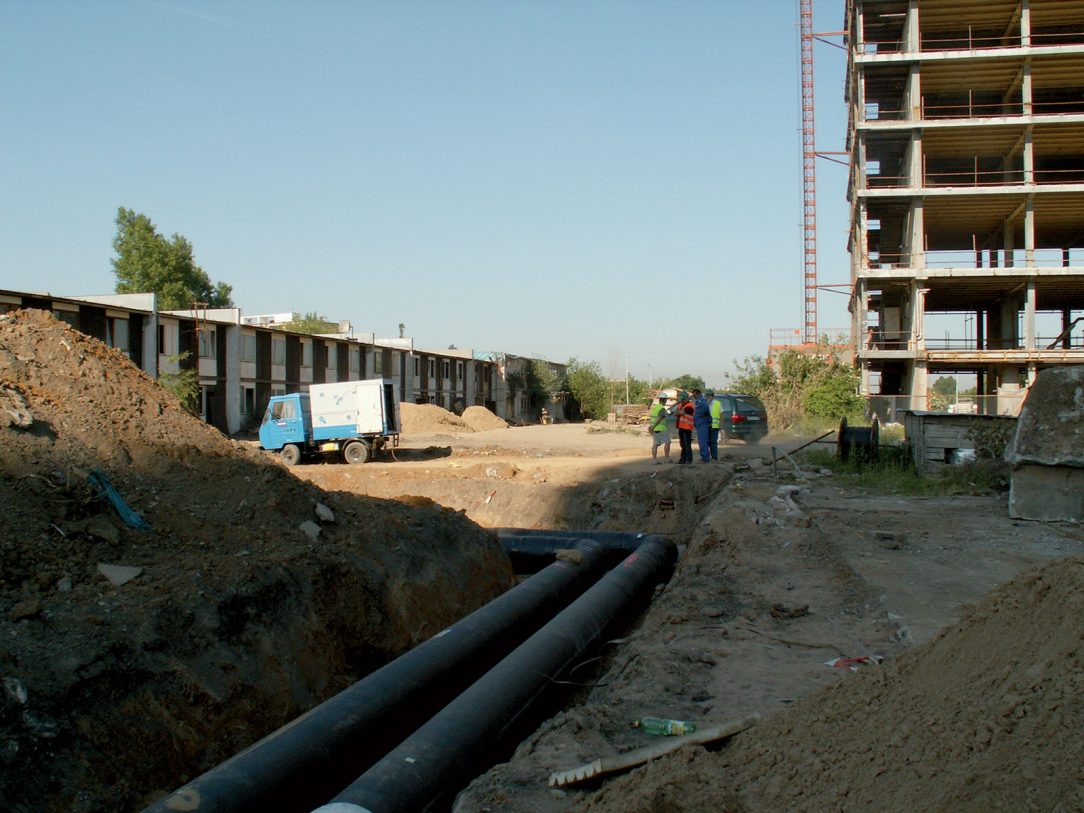 Dokončená přeložka podzemního potrubí