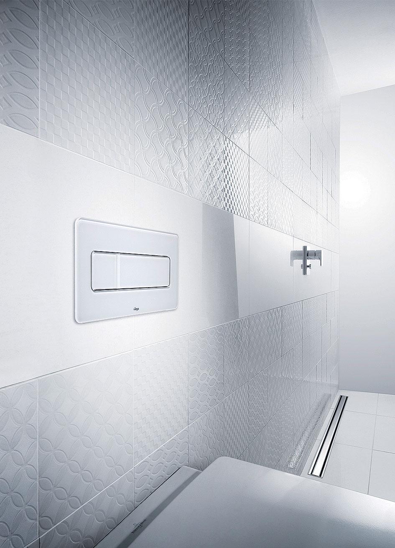 Obr. 2 Ovládací deska Visign for More 105 reprezentuje nový design oblých tvarů. Ten dále rozvíjí doposud dominující minimalistický trend o jemnější aemocionálnější křivky.