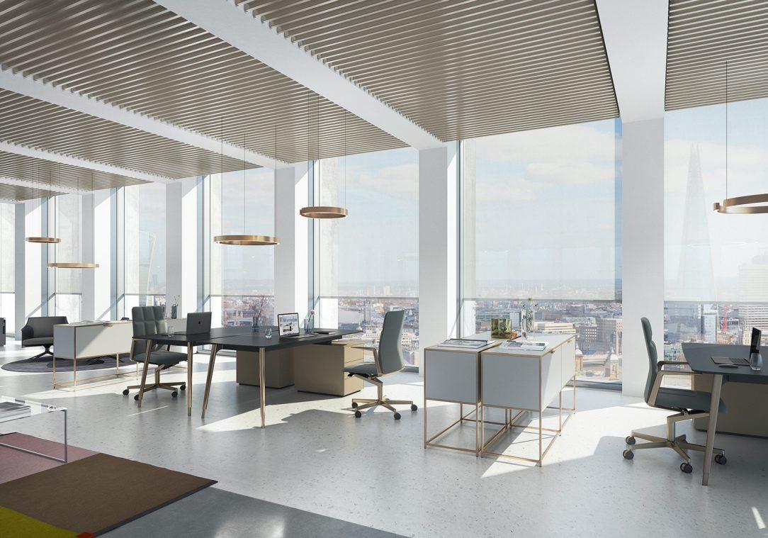 Rolety Schüco ZIP Design Screen mohou být perfektně integrovány do nových fasádních systémů Schüco UDC 80 rovněž představených na lednovém stavebním veletrhu BAU 2019 v Mnichově.