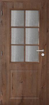 Dveře řady Rustik, model AULIDA, obložková zárubeň