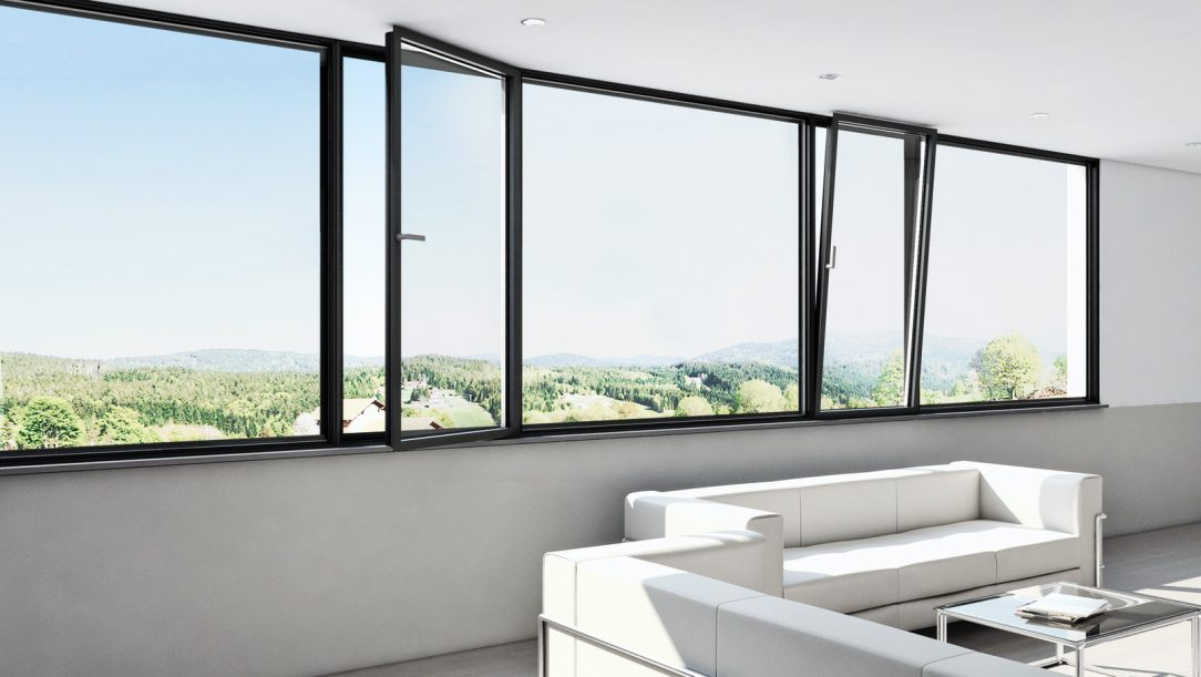 Panoramatický okenní systém Schüco AWS 75 PD.SI