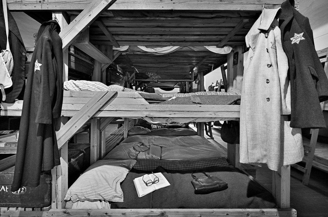 Replika ubikace v bývalém ghettu v objektu Magdeburských kasáren
