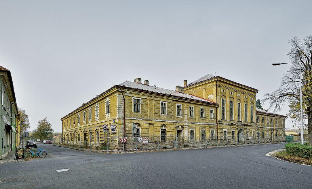 Wieserův dům nejhonosnější civilní budova v Terezíně před právě probíhající rekonstrukcí