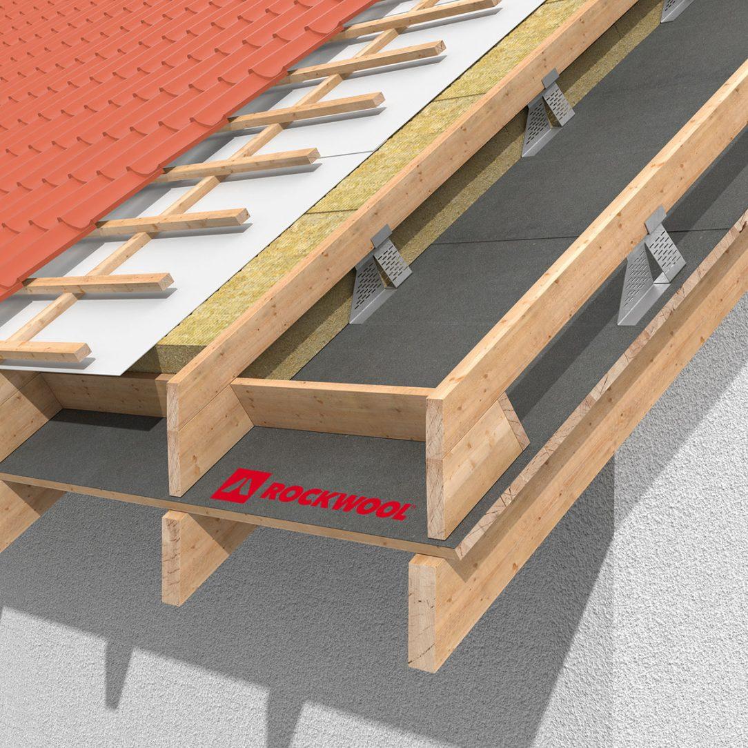 Zateplení šikmé střechy nad krokvemi pomocí systému TOPROCK