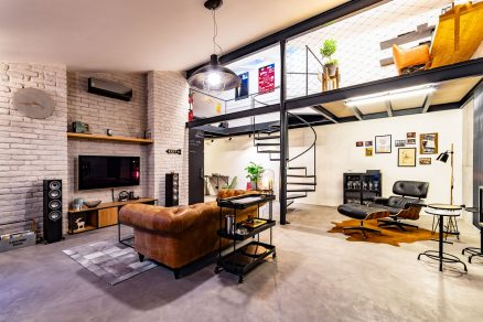 Realizace interiéru loftový byt pro mladého muže DEHO