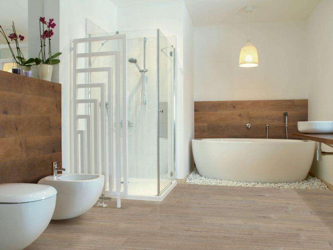 Ukázka lepených dílců v koupelně dekor JASAN HNĚDÝ