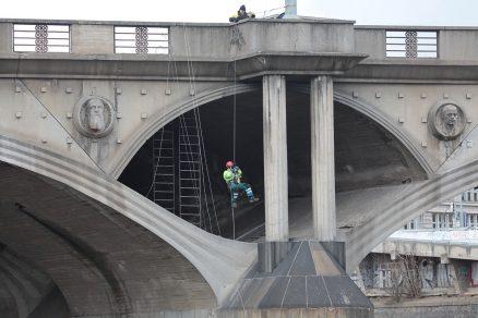 Hlávkův most – diagnostika vylehčovací klenby