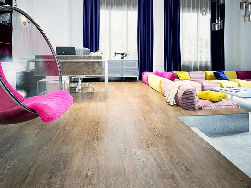 Ukázka světlé podlahy – FatraClick Borkovice karibská