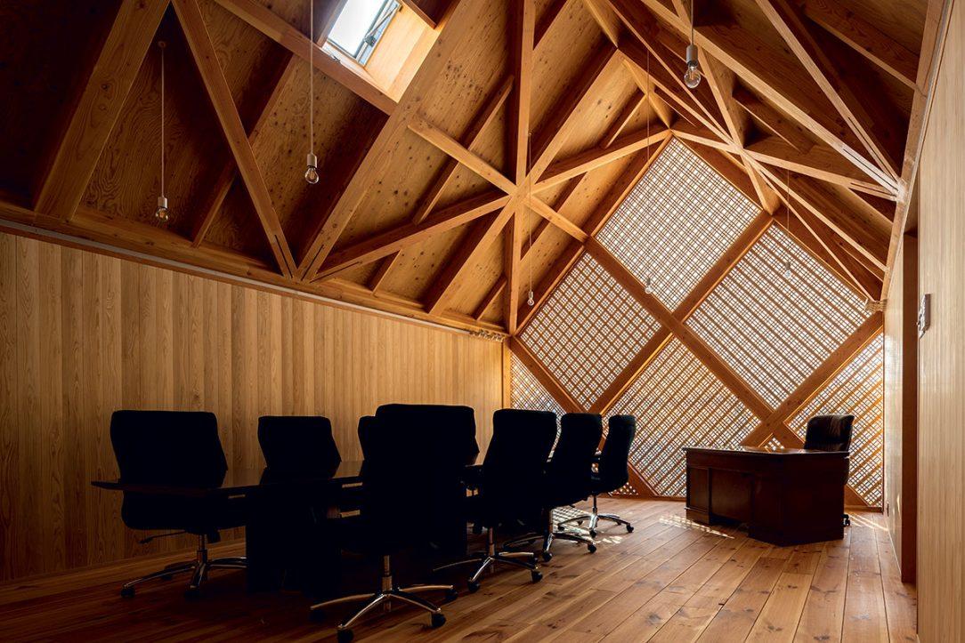Ve 2. NP převládá administrativní využití pro potřeby obchodní komory.