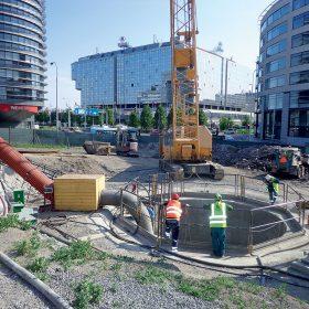 Celkový pohled na staveniště
