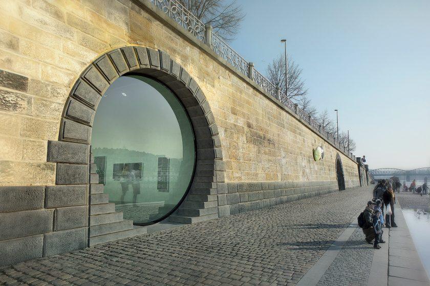 Náplavka v Praze zrekonstruovaná kobka