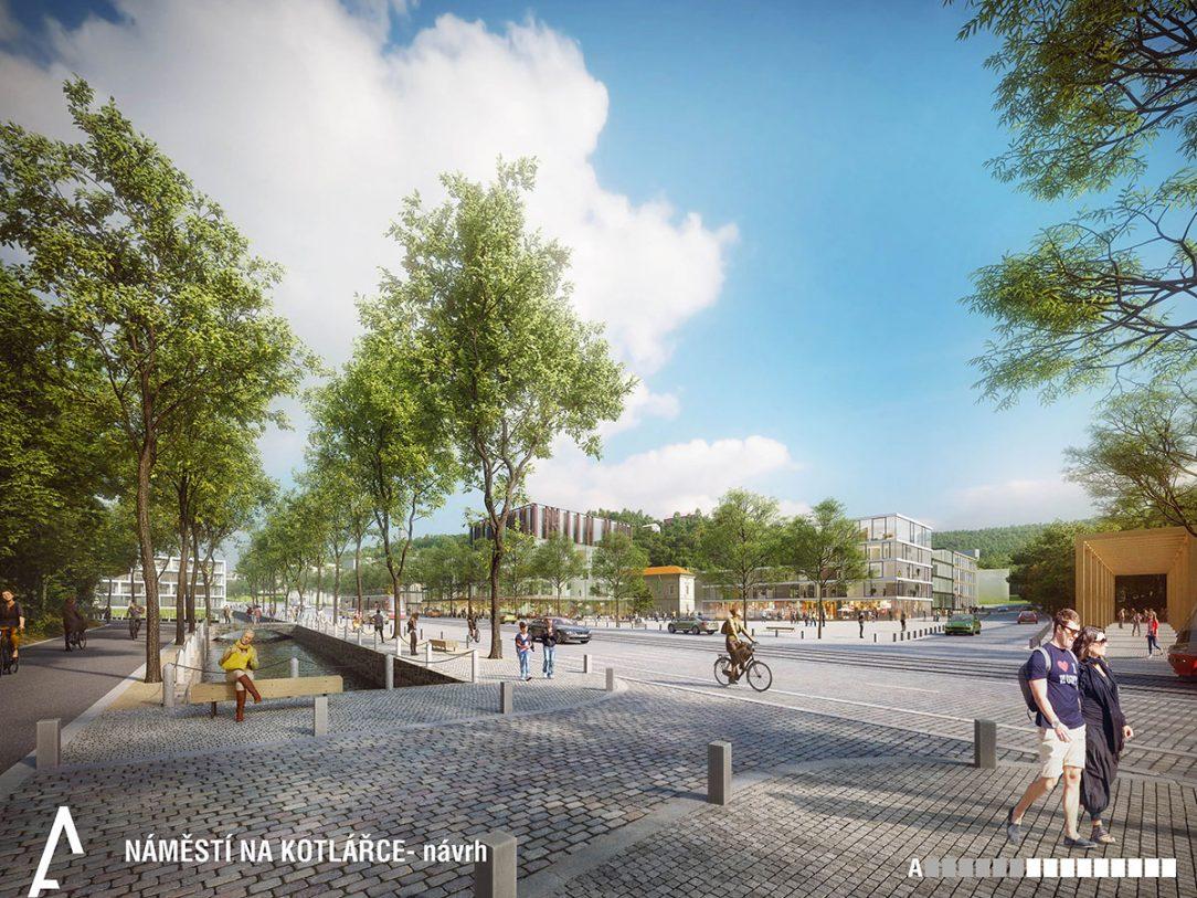 Návrh náměstí Na Kotlářce