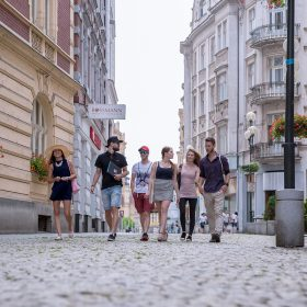 Studenti v centru Ostravy 1