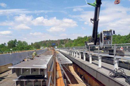 Výstavba mostu Vysočina