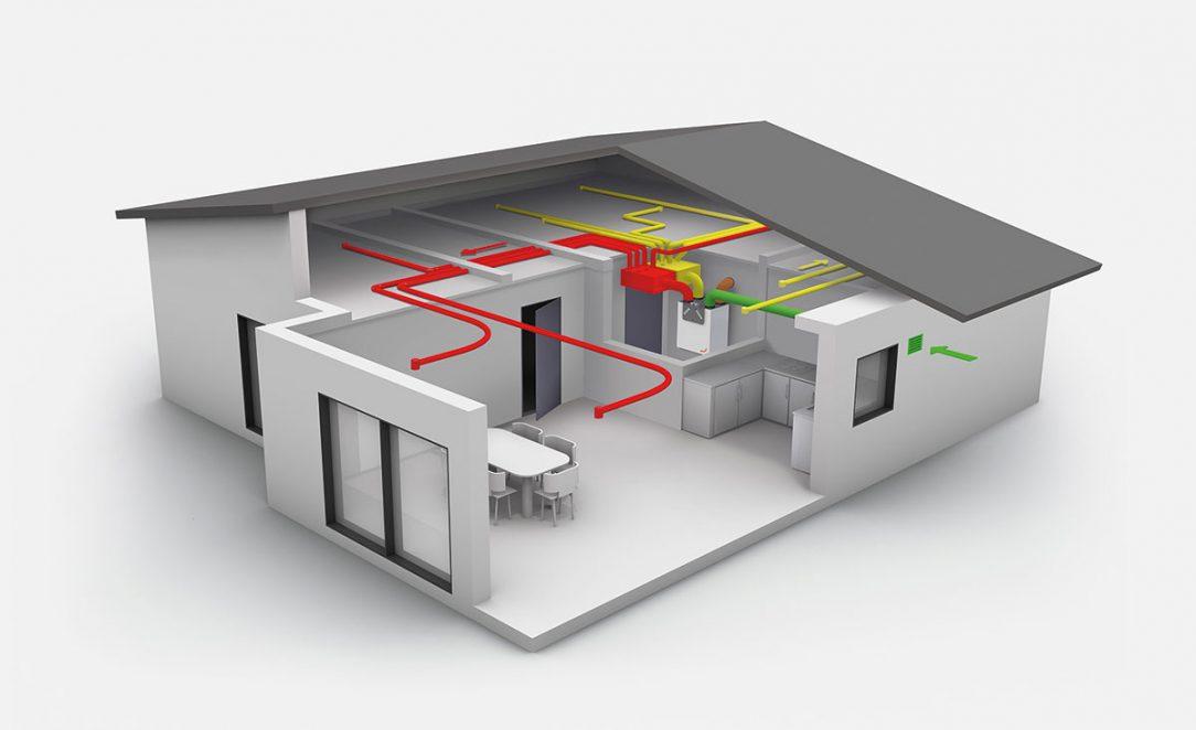 Návrh řešení komfortního systému řízeného větrání Zehnder pro RD – bungalov