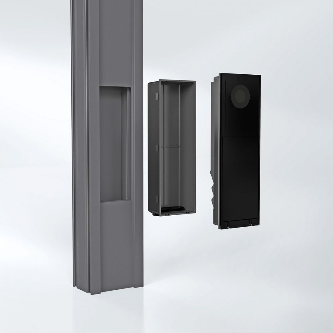 Obdélníkový výřez a samostatné instalační pouzdro umožňují rychlou a snadnou instalaci.