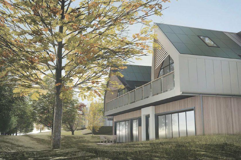 Vítězný projekt třetího ročníku Českého soběstačného domu od Zuzany Kopilákové.