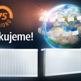 75 milionů instalovaných deskových radiátorů Kermi 75 milionů řešení pro inovativní ekologickou topnou techniku německé kvality