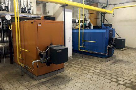 Obr. 2 Kotelna administrativní budovy v Praze o celkovém výkonu 855 kW