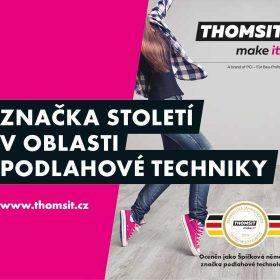 Thomsit značka století v oblasti podlahové techniky