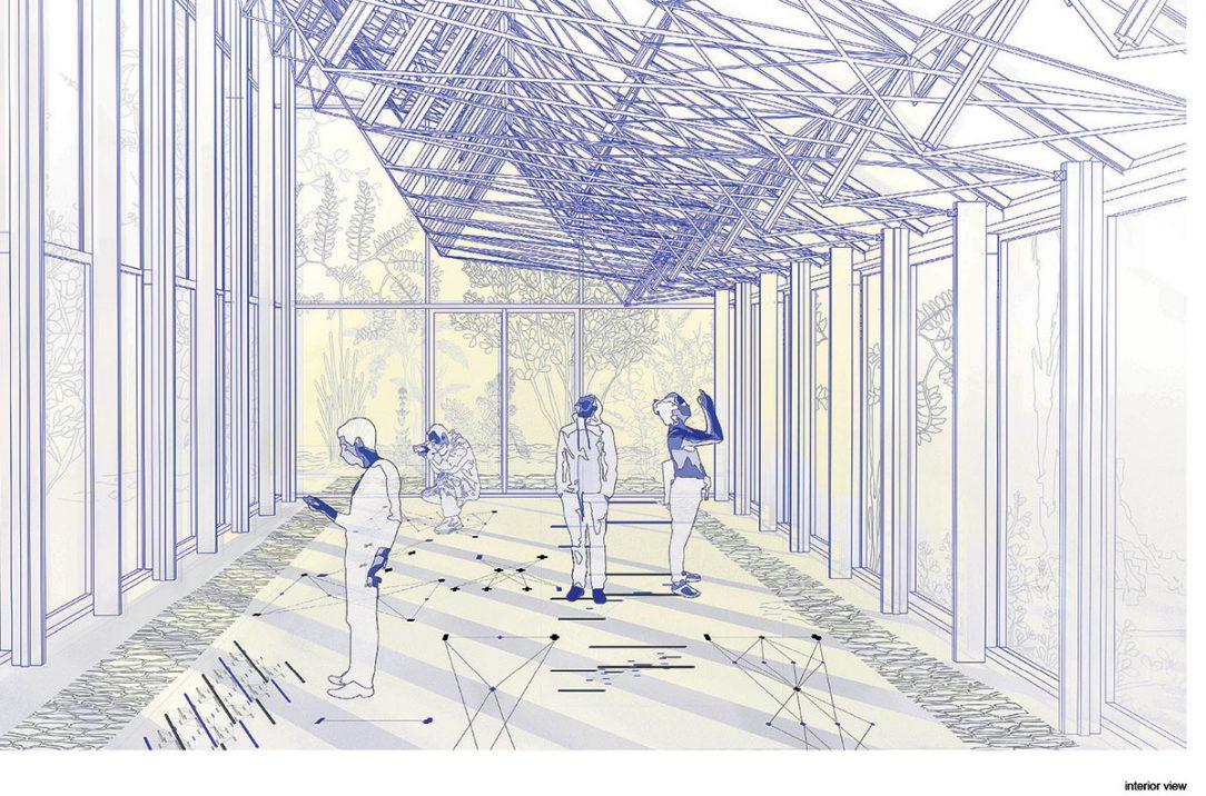 Skleník má být architektonickým ztvárněním Mendelových objevů.