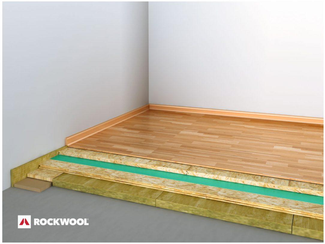 Akustická lehká plovoucí podlaha s izolací z kamenné vlny STEPROCK HD v systému AKUFLOOR®