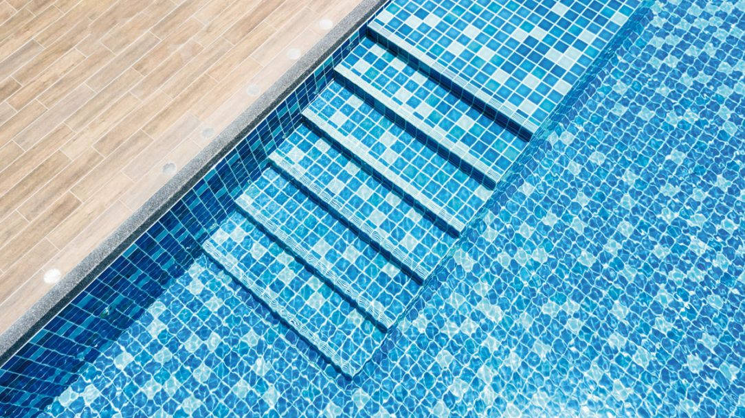 pool mosaic epoxy