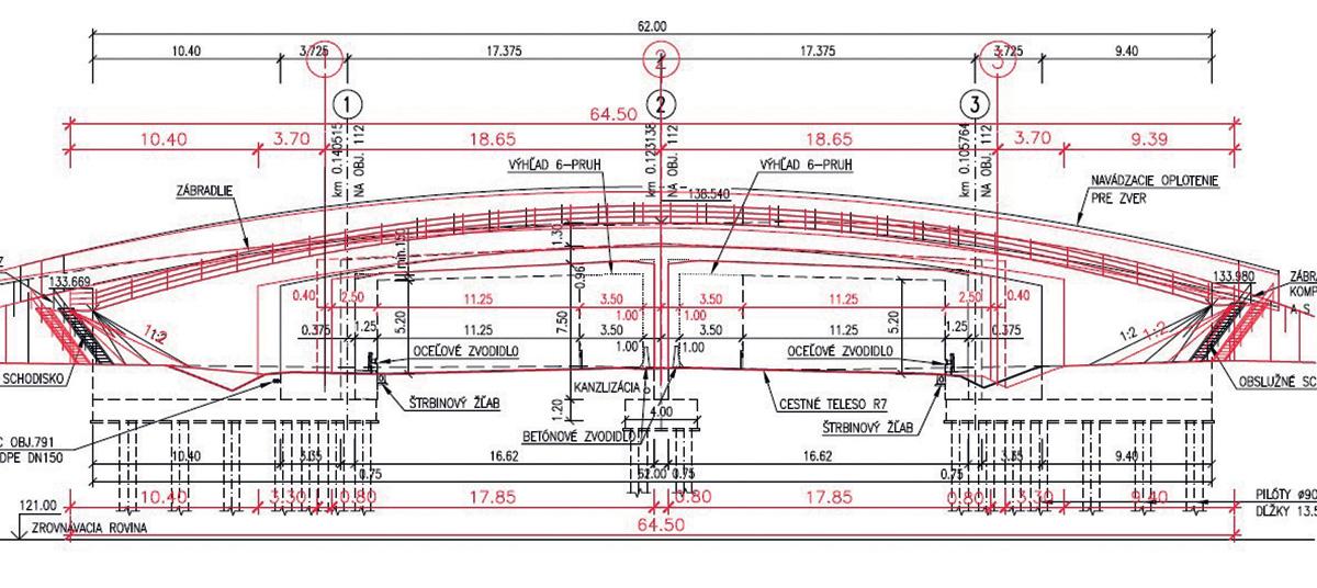 Původní návrh konstrukce – těžký monolit založený na pilotách