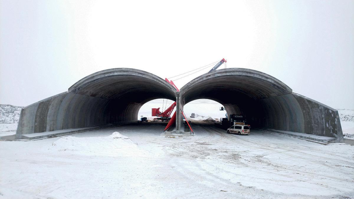 Poslední den montáže prvního mostu SO 207 – 21. 12. 2018