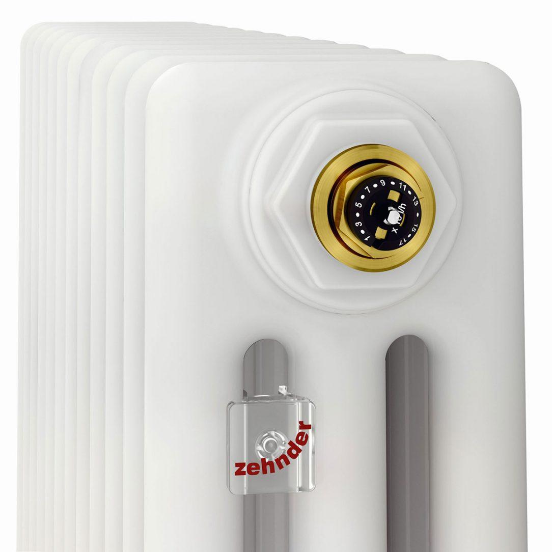 Verze článkového radiátoru Zehnder Charleston Completto s ventilem Q Tech zajistí automatické hydraulické vyvažování v otopné soustavě