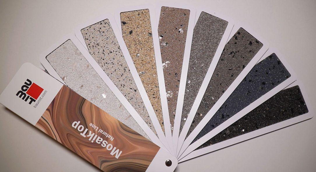 Vzorník dekorativních omítek Baumit MosaikTop Natural Line